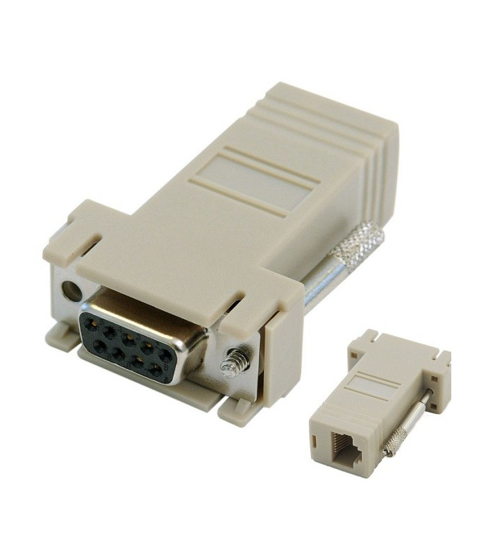 Db9 Female Rj45 Modular Adapter Color Baige Picture.