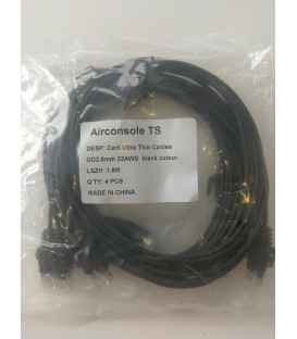 Cat6 Ultra Thin Cables (x4 ) for Airconsole TS